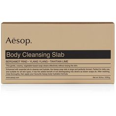 Aesop Body Cleansing Slab ($26) ❤ liked on Polyvore featuring beauty products, bath & body products, body cleansers, fillers, beauty, makeup, brown fillers, extras and aesop