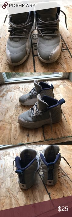 Jordan's size 12C Good condition. Needs a slight cleaning. Soles are missing. Air Jordan Shoes Sneakers