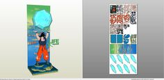 Papercraft .pdo file template for Dragonball - Son Goku Genkidama.