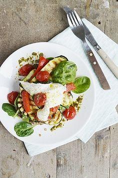 Gegrilde groenten met pesto