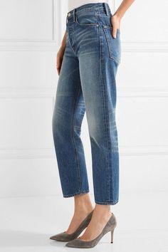 FRAME - Rigid Re-release Le Original High-rise Straight-leg Jeans - Mid denim - 23