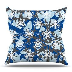 East Urban Home Ice Topography by Miranda Mol Outdoor Throw Pillow