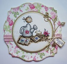 LOTV - Watering Can with Romance and Roses Paper Pad and Sentiment Tags by Kat Waskett