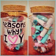 I would write I <3 U instead of the y but it's a really sweet gift :)