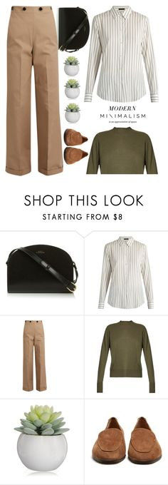 """""""Modern minimal"""" by hamaly ❤ liked on Polyvore featuring The Row, Jil Sander, Raey and modern"""