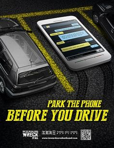 Park the phone BEFORE you drive. Don't be a distracted driver. Drive Safe Quotes, Driving Safety, Safety Tips, Traveling By Yourself, Zero, Death, Phone, Friends, Amigos