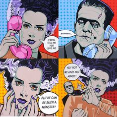 Bride Of Frankenstein Pop Art