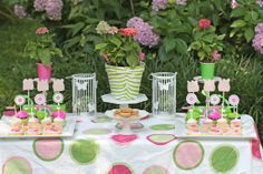 Pink and Green Garden Party Tea Party Party Ideas | Photo 1 of 31 | Catch My Party