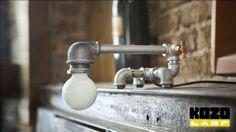 KOZO 21 Rost Beweis Eisen Rohr Regal Lampe von Kozo von KozoLamp, $369.00