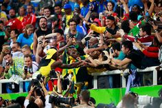 #olympics #olympiad #olympians   Fans congratulated Bolt after he became the first Olympic sprinter, male of female, to earn three gold medals in the 100. He will also try to become a three-time champion in the 200-meter dash and the 4x100-meter relay.