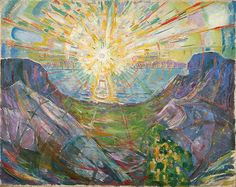 By Edward Munch.     ~Sometimes, out of nowhere, a single shining day  ~Tina