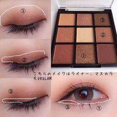 Korean Makeup Look, Asian Eye Makeup, Eye Makeup Steps, Makeup Eye Looks, Eye Makeup Art, Eyeshadow Makeup, Doll Eye Makeup, Makeup Kit, Lip Makeup