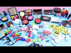 Miniature Doll Stuff Collection Handmade miniatures and doll Makeup / Cosmetics stuff Doll House Crafts, Doll Crafts, Diy Doll Miniatures, Miniature Dolls, Dollhouse Accessories, Barbie Accessories, Hand Crafts For Kids, Barbie Dolls Diy, Doll Makeup