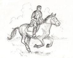 Sketch by David Allan for new translation of Mikhail Strogoff. Check out www.eaglebooksadventure.com