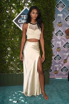 Chanel Iman Photos - Model Chanel Iman attends the Teen Choice Awards 2016 at…