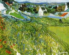 Vineyards With A View Of Auvers Artwork by Vincent van Gogh