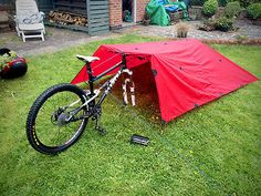 Alpkit Rig 7 Lightweight Tarp Camping Bikepacking Touring Bicycles, Touring Bike, Camping Tarp, Outdoor Camping, Mtb, Lightweight Tarp, Pimp Your Bike, Tricycle Bike, Dynamo