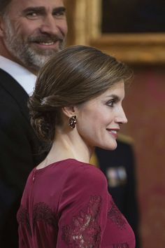 Queen Letizia of Spain Photos Photos - King Felipe VI of Spain and Queen Letizia of Spain receive foreign ambassadors at the Royal Palace on January 26, 2017 in Madrid, Spain. - Spanish Royals Receive Diplomats at the Royal Palace