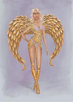 Victoria's Secret Fashion Show 2014| Gilded Angels draw