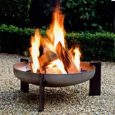 Fire pit from steel tank bottom.