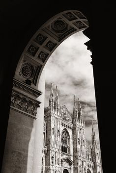 Frame with Cathedral, Milan, Italy. This Milan series came from my short 2-nights-stay trip to this Italian city.