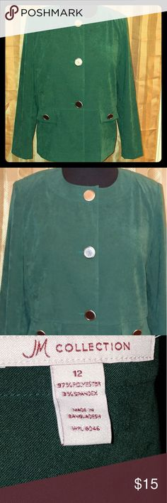 Hunter Green Suede-Like Blazer EUC! Smoke free home. JM Collection Jackets & Coats Blazers