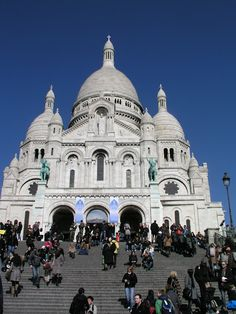 Sacre Coeur, Paris - climbed to the top of this one too :-)  In the rain walking in the gutters - scary but exciting.