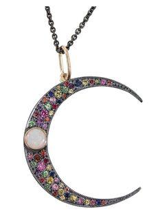ANDREA FOHRMAN crescent moon pendant necklace