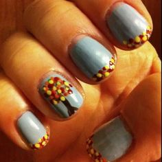 Cute for fall :) i would probably have a more sunsety base color though