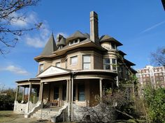 William Hassinger Mansion, c.1898, Birmingham, Alabama by Cougar_6, via Flickr History Pics, Magic City, Birmingham Alabama, Sweet Home Alabama, Victorian Houses, Roll Tide, Abandoned Places, Bed And Breakfast, Old Houses