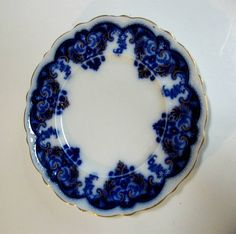 Vintage Flow Blue Plate Johnson Brothers Georgia by CinfulOldies, $40.00