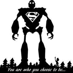 Super Iron Giant - The Iron Giant Chooses to be Superman
