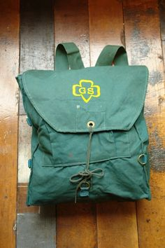 ....and a Girl Scout.  I had one of these backpacks which went with me on several campouts at Camp Daisy Hindman!