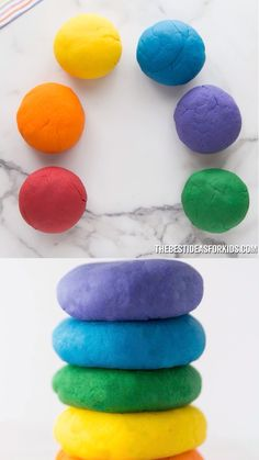 The BEST playdough recipe you will ever try with only 5 ingredients! This homemade playdough is soft, easy to make and lasts for months! Best Playdough Recipe, Cooked Playdough, Homemade Playdough, Play Dough Homemade, Homemade Toys, Homemade Crafts, Fun Crafts For Kids, Summer Crafts, Toddler Crafts