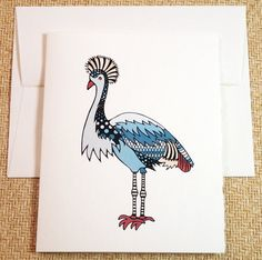Lil' Crane  A unique and fun greeting card by AlexandraWaterman
