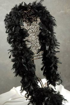 "Black Feather Boa 76"" x 9"" wide"