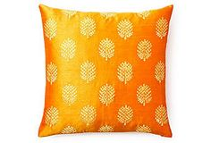 Henna 20x20 Pillow, Orange
