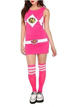 Mighty Morphin Power Rangers - Pink Ranger Tank Dress Pink Halloween  Costumes e7ebe0af6