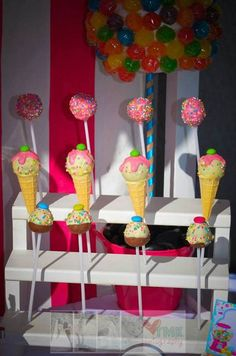 Cake pops at a Sweet Shoppe Party #sweetshoppe #partycakepops