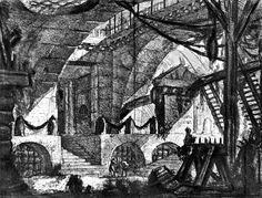 Giovanni Battista Piranesi: gravure sans titre dite Le Chevalet, planche XII, Carceri d'invenzione, 1761.-