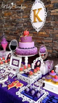 Descendants Maleficent's daughter birthday party! See more party planning ideas at CatchMyParty.com!