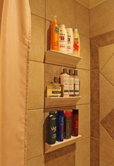 Bathroom Tile Storage - traditional - tile - dc metro - Bathroom Tile Shower Shelves