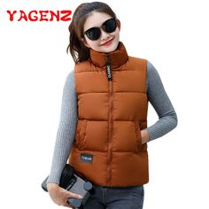 Jackets & Coats Hot Sale Women Vest Female Warm Sleeveless Jacket Cotton Solid Hooded Vest For Outerwear