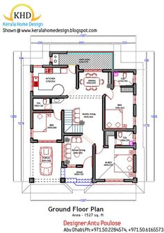 Great 40 3 Bedroom House Plans In Kerala Single Floor Home Plan And Elevation 1800 Sq. Ft Kerala Home Design And Floor 2bhk House Plan, Model House Plan, House Layout Plans, Duplex House Plans, Family House Plans, Luxury House Plans, Bedroom House Plans, Dream House Plans, Small House Plans