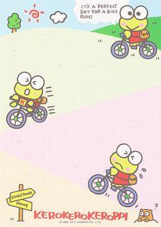 Sanrio Keroppi Memo (2012) | crazysugarbunny | Flickr Keroppi Wallpaper, Pen Pal Letters, Cute Journals, Cute Notes, Grunge Room, Favorite Cartoon Character, Kawaii Stationery, Sanrio Characters, Kawaii Art