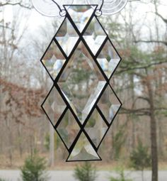 Stained Glass Suncatcher Diamond & Triangle by CartersStainedGlass, $24.95