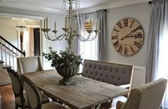 end chairs and side chairs are from World Market and the tufted bench is from Home goods