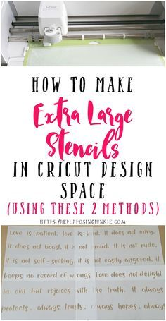 How to make extra large stencils, oversized stencils in Cricut Design Space. I'm going to walk you through 2 different methods, meeting and overlapping.