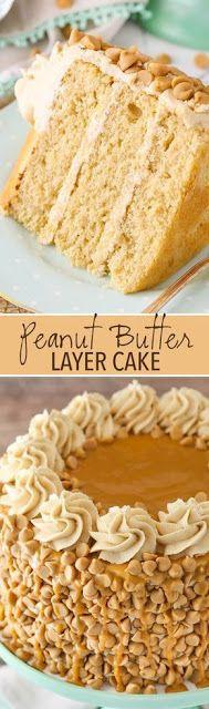 Loaded Peanut Butter Layer Cake | Easy Recipe #recipes #food #easyrecipe #healthy #easy #cake #cookies #dessert #vegan #ideas #comfortfood #dinnerrecipes #homemade #easter #brunch #crust