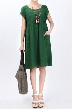 Cómodo algodón plisado / Lino Mujeres vestido de maternidad Vestido Gravida Ropa / Ropa embarazada Verano 2014 más el tamaño 2XL-en Vestidos de Ropa y accesorios en Aliexpress.com | Grupo Alibaba